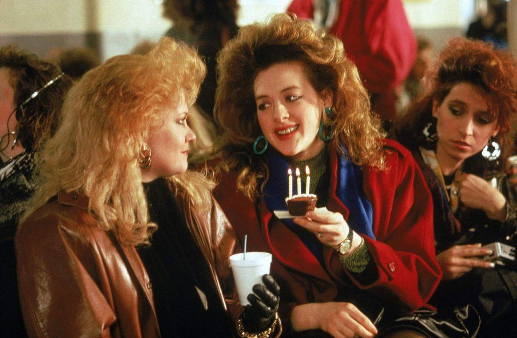 Filmstill aus Working Girl. Die Freundinnen auf der Staten Island Ferry.